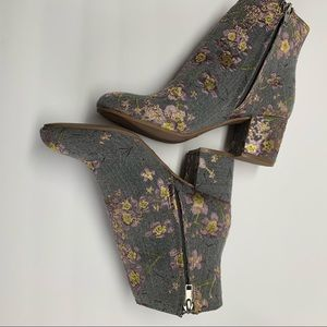 "Shoes - S19-29. Gray Embroidered Bootie "" New"""